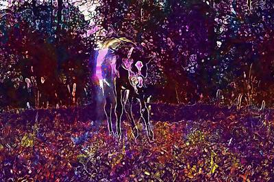 Digital Art - Horse Foal Dust Pasture Autumn  by PixBreak Art