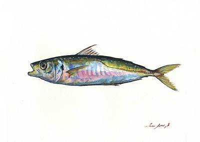 Horse Art Painting - Horse Mackerel  by Juan Bosco