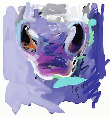 Painting - Horse Nose by Go Van Kampen