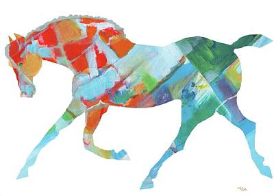 Mixed Media - Horse Of Color by Mary Armstrong