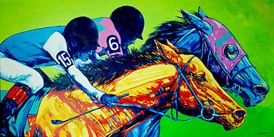 Horse Racing Painting - Horse Race by Derrick Higgins