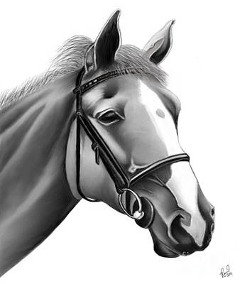 Art Print featuring the painting Horse by Rand Herron