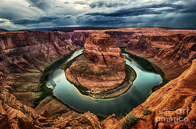 Photograph - Horseshoe Bend Arizona  by Bob Christopher