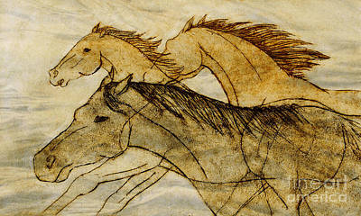 Drawing - Horse Sketch by Nareeta Martin