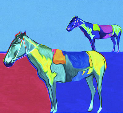 Horses By Nixo Art Print