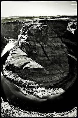Photograph - Horseshoe Bend Bw by Roger Passman