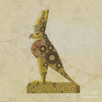 Holy Digital Art - Horus, Egyptian God By Mary Bassett by Mary Bassett