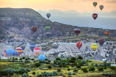 Hot Air Balloon Photograph - Hot Air Balloons Cappadocia by Joana Kruse