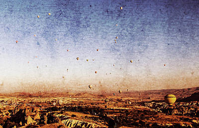 Mixed Media - Magical Cappadocia by Helissa Grundemann