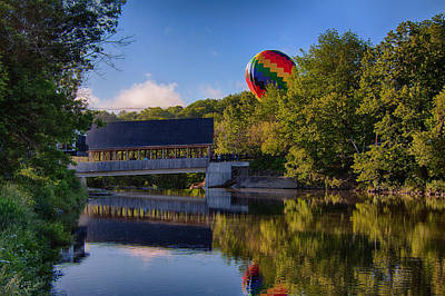Photograph - Hot Air Balloons In Queechee 2015 by Jeff Folger