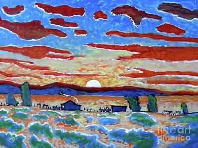 Maynard Dixon Painting - Hot Chili Sunset by Kip Decker