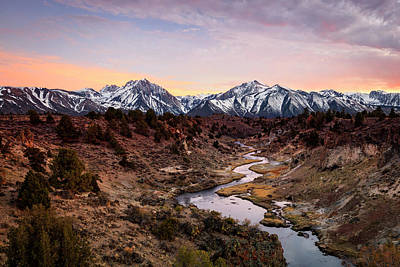 Photograph - Hot Creek Sunset by Johnny Adolphson