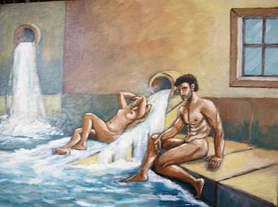 Painting - Hot Springs by Jean Pierre Bergoeing