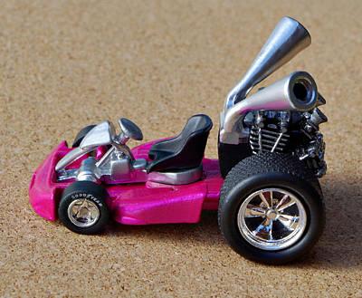 Hot Pink Custom Photograph - Hotwheels Go Kart by Bruce Roker