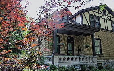 Photograph - House In German Village by Mindy Newman