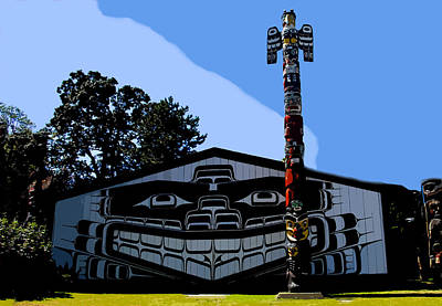 House Of Totem Art Print by David Lee Thompson
