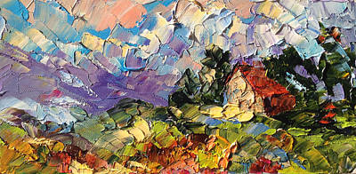 Painting - House On A Hill by Carrie Jacobson