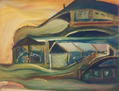 Painting - House On A Hill by Gregory Dallum
