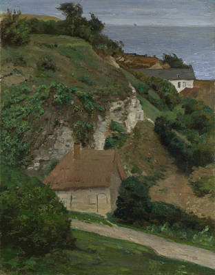 Fecamp Digital Art - House On The Cliffs Near Fecamp by Antoine Chintreuil