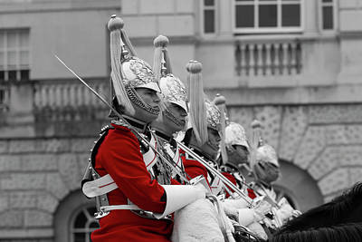 Changing Of The Guard Photograph - Household Cavalry Changing Of The Guard by David Pyatt