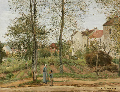 Houses At Bougival  Print by Camille Pissarro