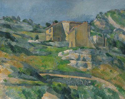 Mountain Valley Painting - Houses In Provence by Paul Cezanne