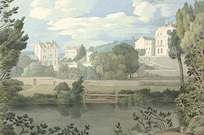 Painting - Houses Near Plymouth by Francis Towne