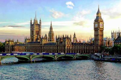 Digital Art - Houses Of Parliament by Anthony Dezenzio