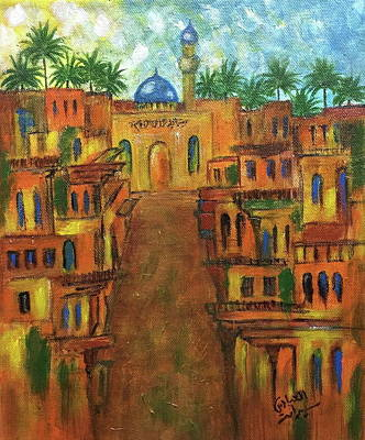 Baghdad Painting - Houses by Siran  Ajel