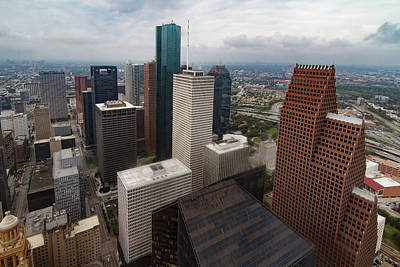 Photograph - Houston From Above by Tim Stanley