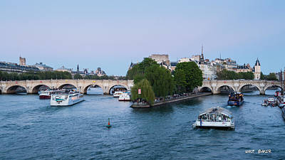 Photograph - Paris By Boat by Walt  Baker