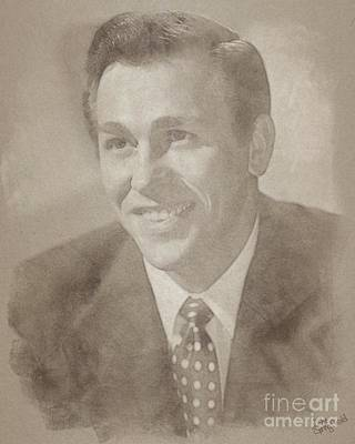 Musicians Drawings Rights Managed Images - Howard Keel, Vintage Hollywood Legend Royalty-Free Image by John Springfield