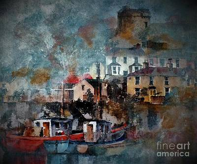 Painting - Howth Harbour, Dublin by Val Byrne