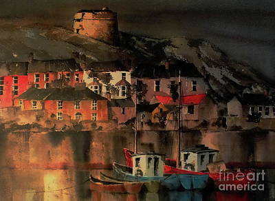 Painting - Howth Sunset Dublin by Val Byrne