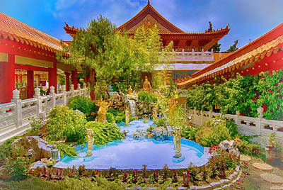 Hsi Lai Temple Art Print by Joseph Hollingsworth