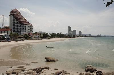 Huahin Photograph - Huahin  Sand Beach Paradase View by Tamara Sushko