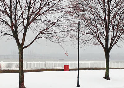 Photograph - Hudson River Winter Walk by Roger Bester