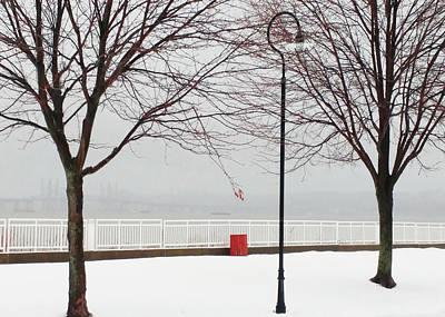 Photograph - Hudson River Winter Walk by Roger Bester