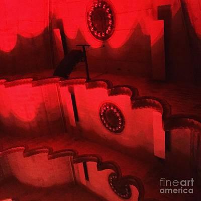 Massey Hall Wall Art - Photograph - Hues Of Massey Hall - Red by Cheryl Mouncey
