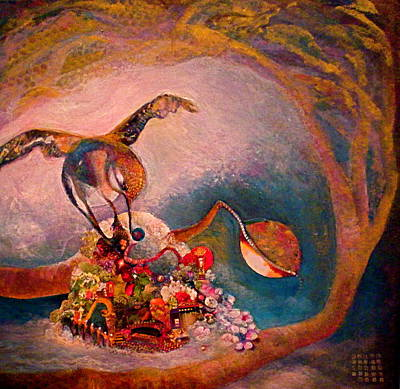 Potential Mixed Media - Hummingbird by Diane Woods