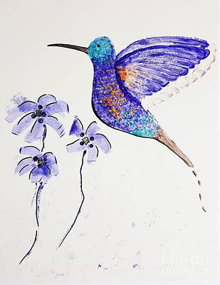 Painting - Hummingbird by Jasna Gopic