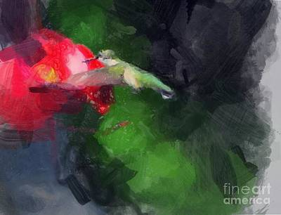 Painting - Hummingbird  by Paul Wilford
