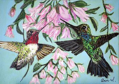 Hummingbirds Art Print by Ann Ingham