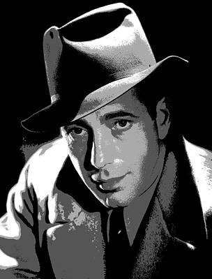 Moroccan Mixed Media - Humphrey Bogart by Charles Shoup
