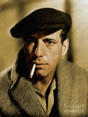 Bogart Painting - Humphrey Bogart, Vintage Actor by Mary Bassett
