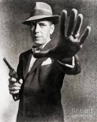 Humphrey Bogart, Vintage Hollywood Legend Art Print by John Springfield