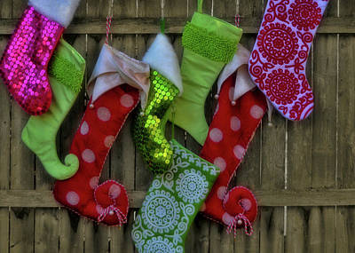 Stockings Hung With Care Art Print by JAMART Photography