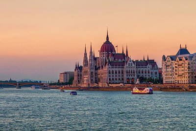 Hungarian Parliament Building In Budapest, Hungary Art Print