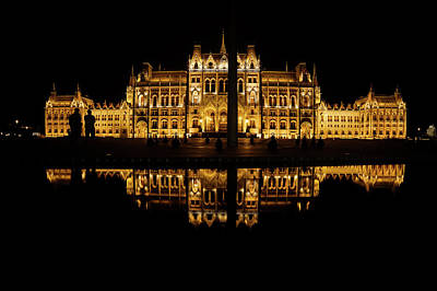 Photograph - Hungarian Parliament In Budapest At Night by Artur Bogacki