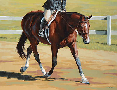 Jumper Painting - Hunter by Lesley Alexander